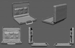 Briefcase Zbrush model