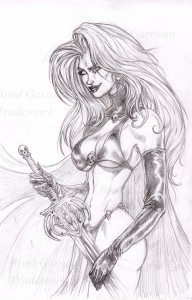 Lady Death_pencil